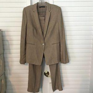 Antonio Melani tan suit - blazer and pants, 8
